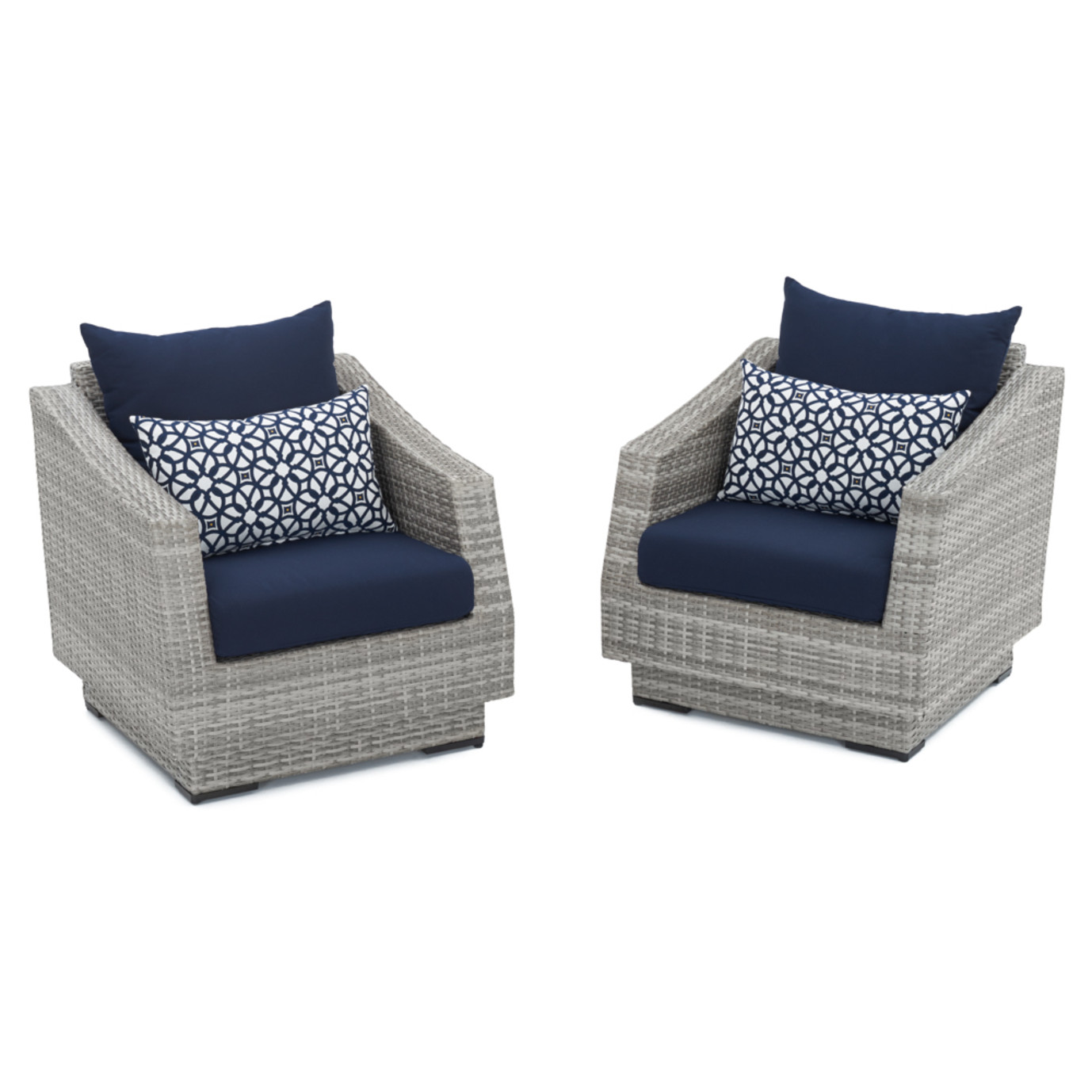 Cannes Club Chairs Navy Blue Rst Brands