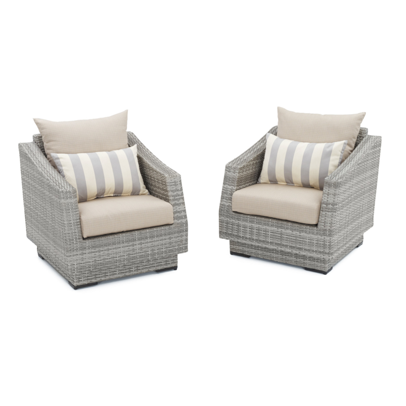 Cannes™ Club Chairs - Slate Gray