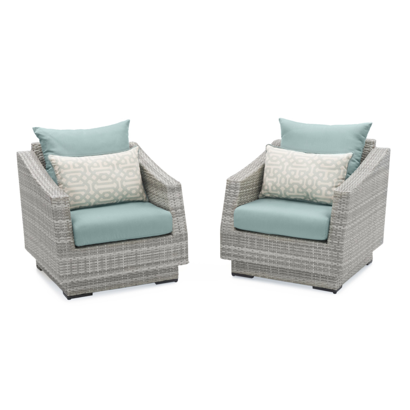 Cannes™ Club Chairs - Spa Blue