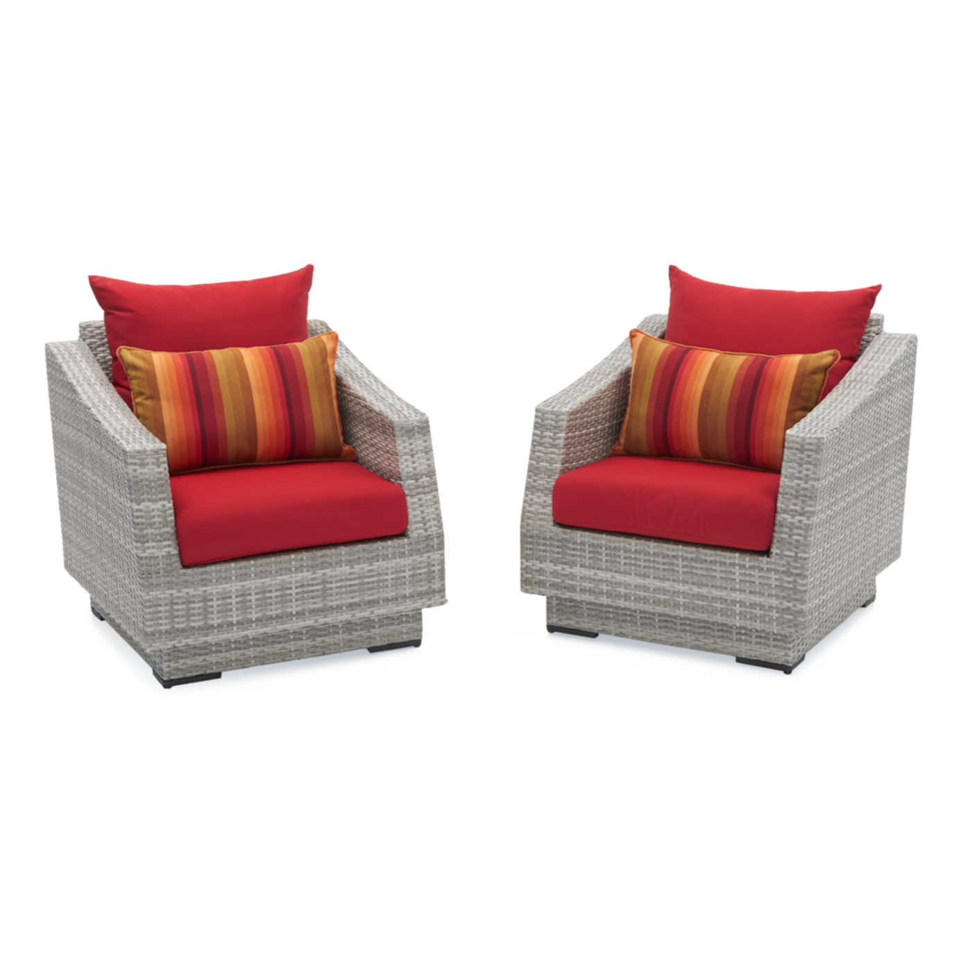 Cannes™ Club Chairs - Sunset Red