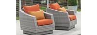 Cannes™ Club Chairs - Tikka Orange