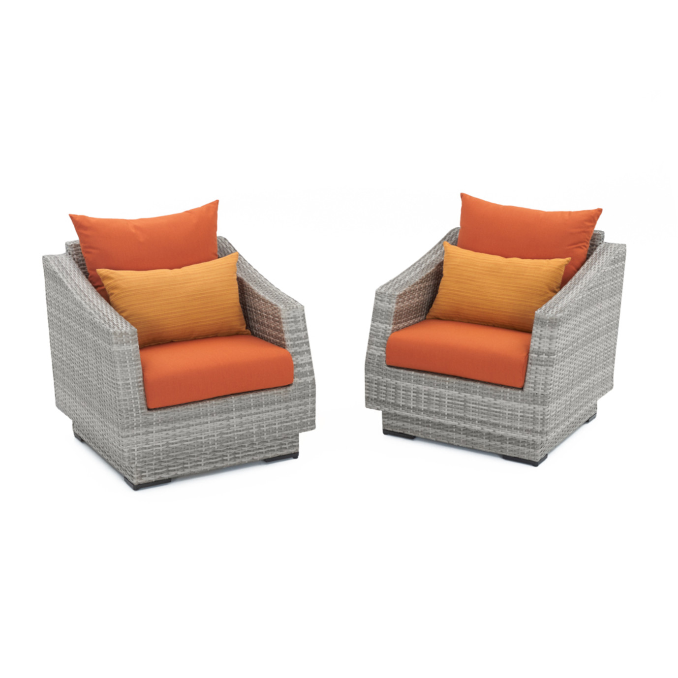 Cannes™ Club Chairs - Tikka Orange
