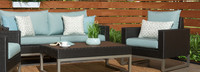 Milo™ Espresso Club Chairs - Charcoal Gray