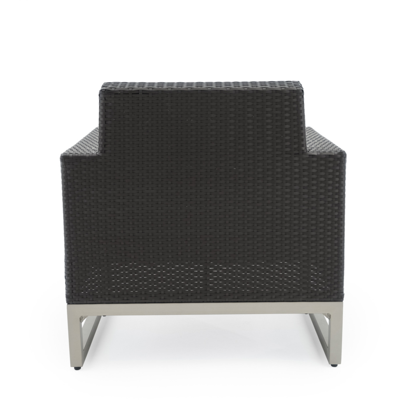 Milo™ Espresso Club Chairs - Charcoal Gray