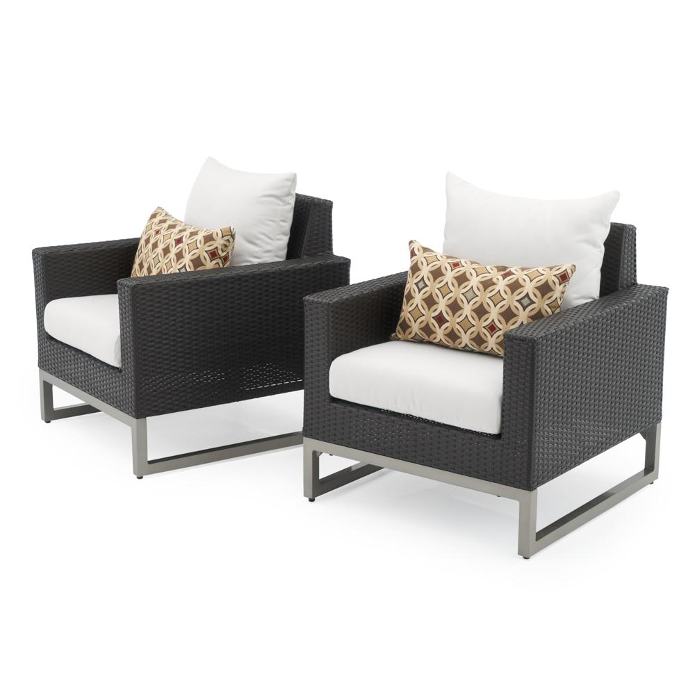 Milo™ Espresso Club Chairs   Moroccan Cream
