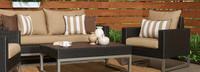 Milo™ Espresso Club Chairs - Maxim Beige
