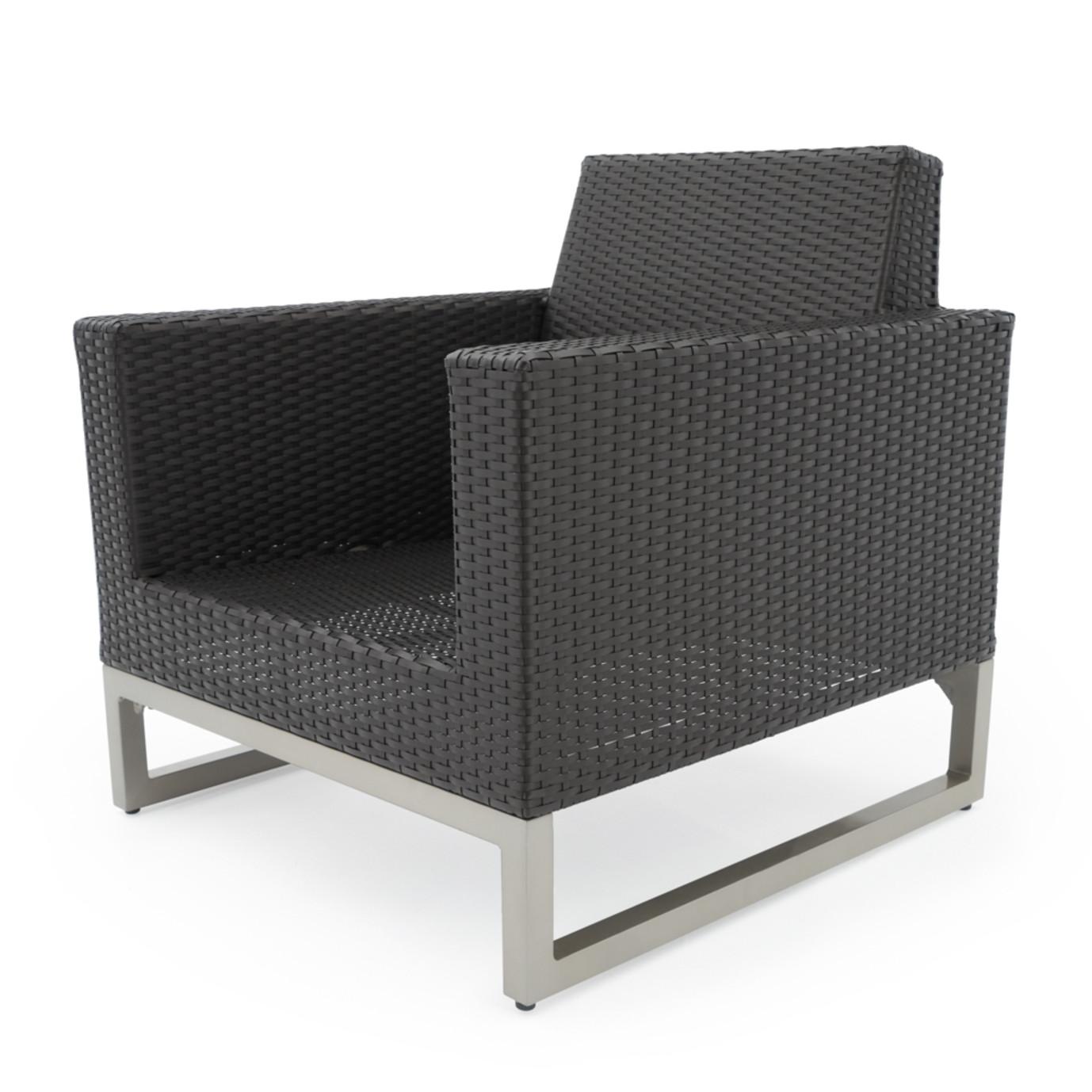 Milo™ Espresso Club Chairs - Slate Gray