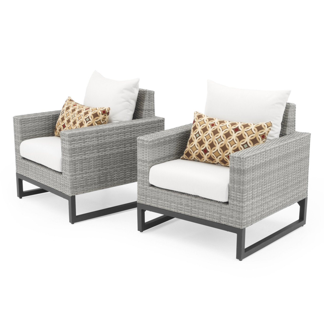 Milo™ Gray Club Chairs - Moroccan Cream
