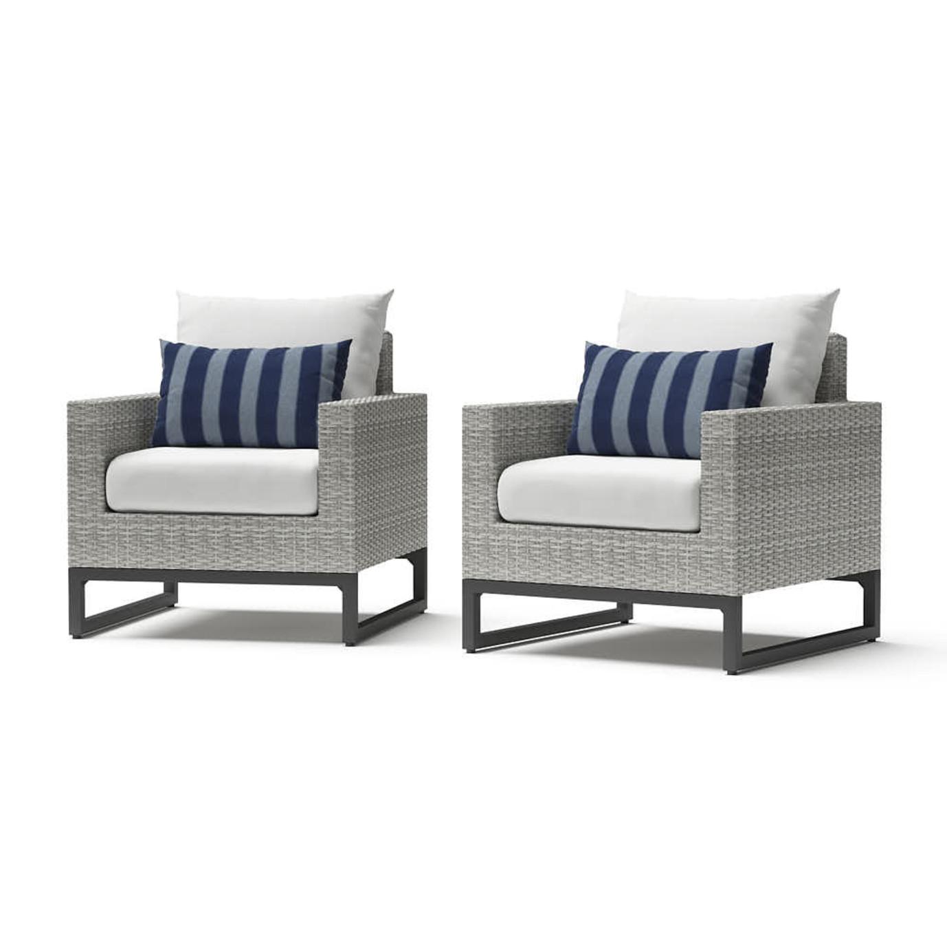 Milo™ Gray Club Chairs