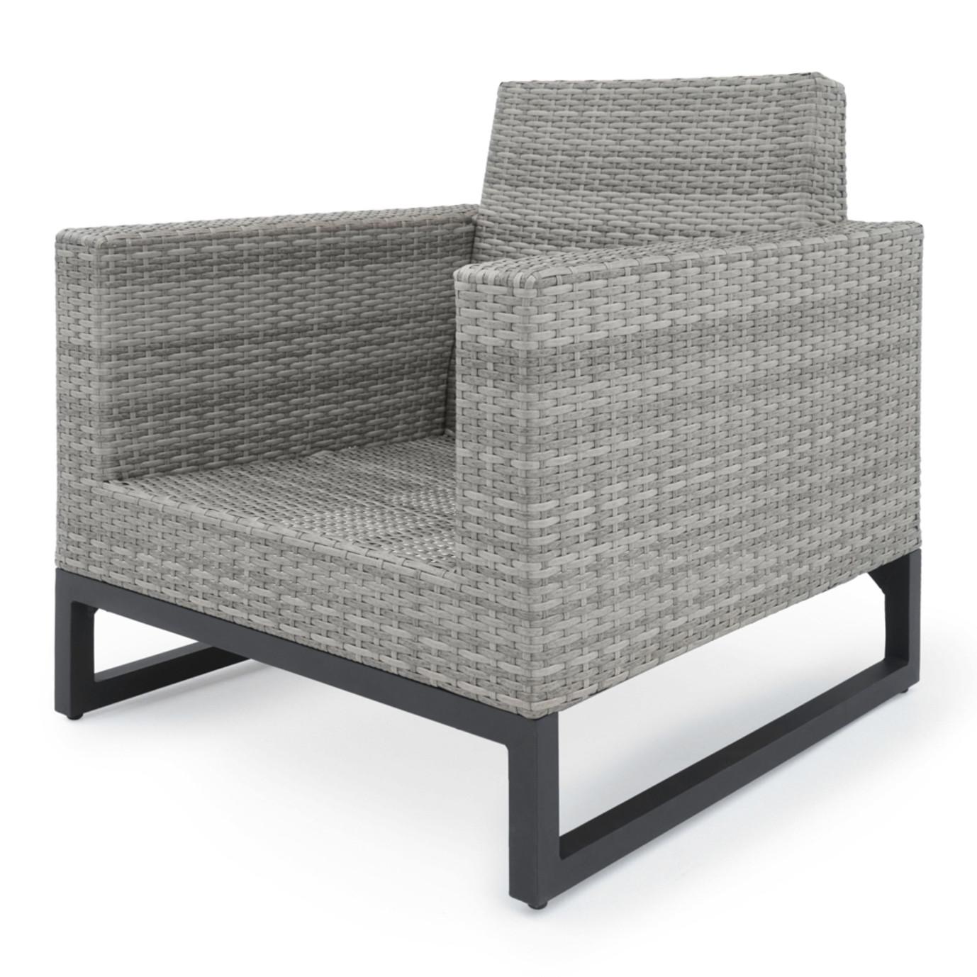 Milo™ Gray Club Chairs - Spa Blue