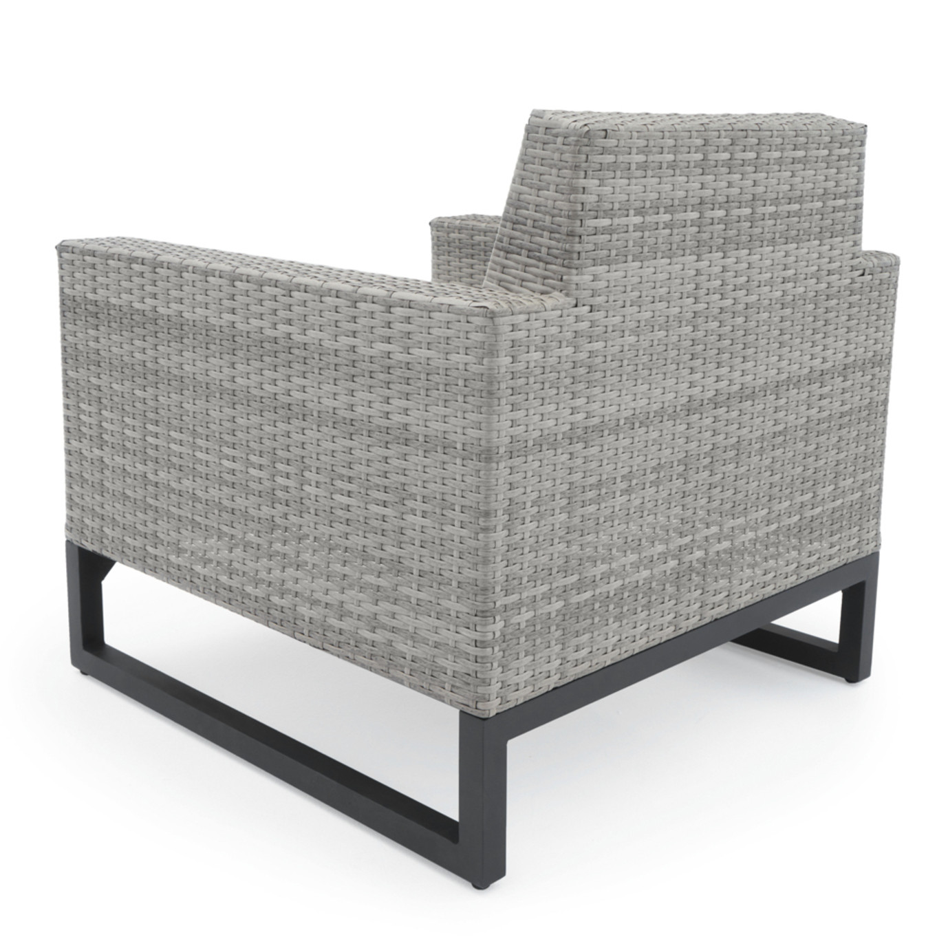Milo™ Gray Club Chairs - Sunset Red