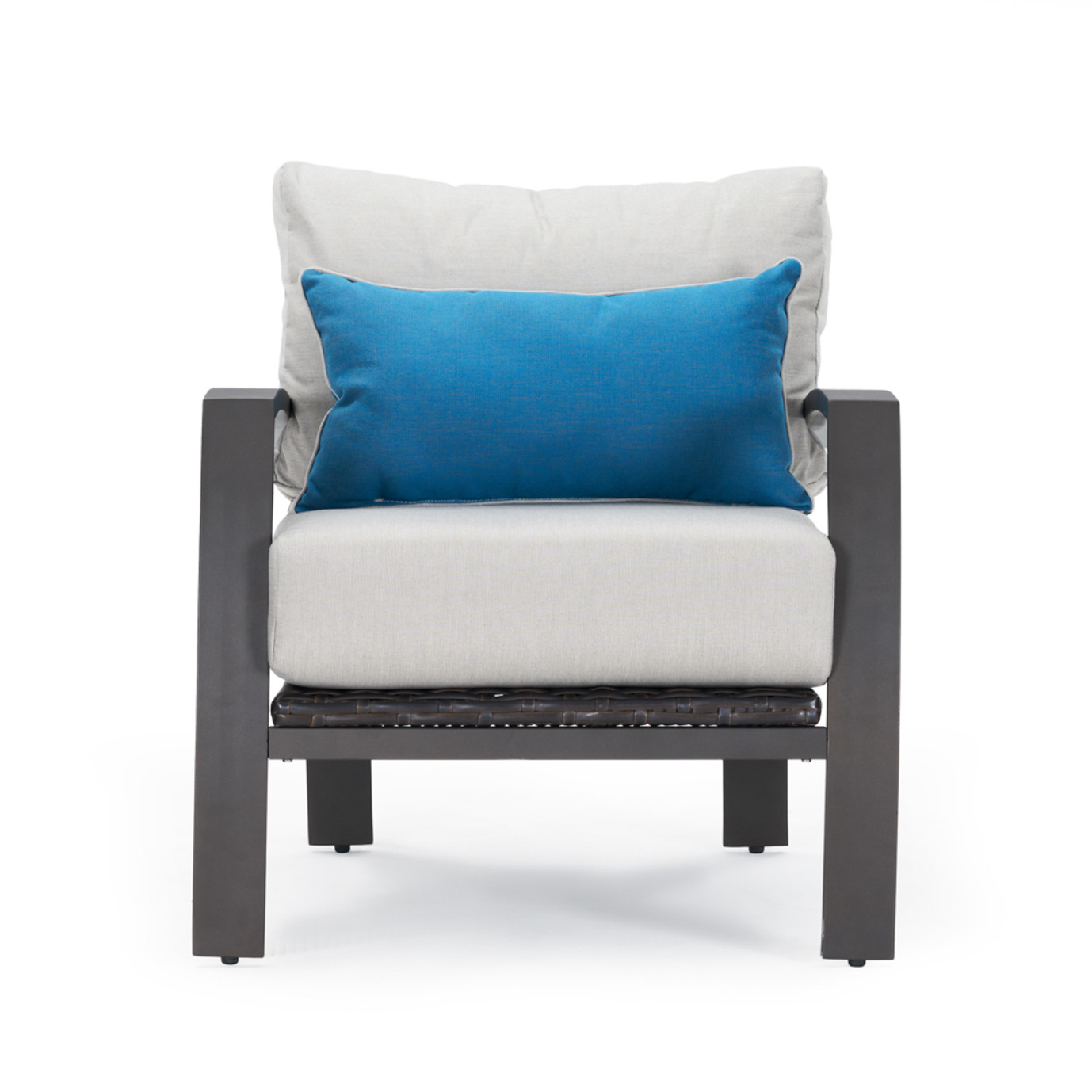 Portofino Repose Open Club Chairs - Dove Gray