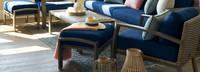 Portofino® Repose Open Club Chairs - Laguna Blue
