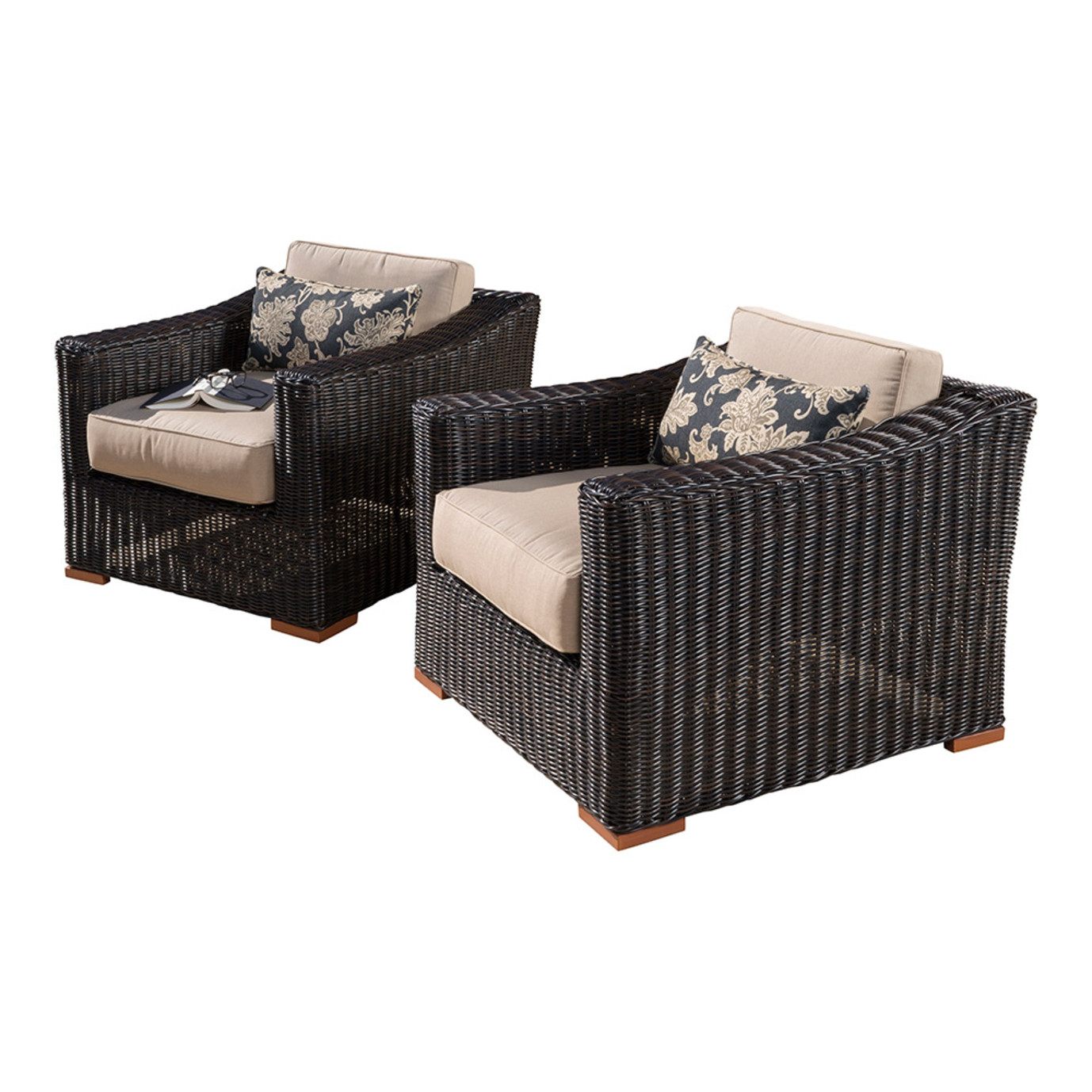Resort™ 2pc Club Chair Set - Espresso/ Heather Beige