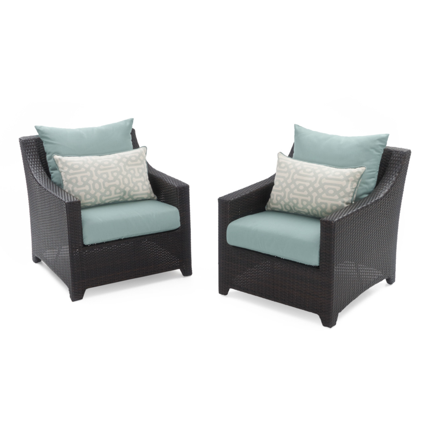 Deco™ Club Chairs - Spa Blue