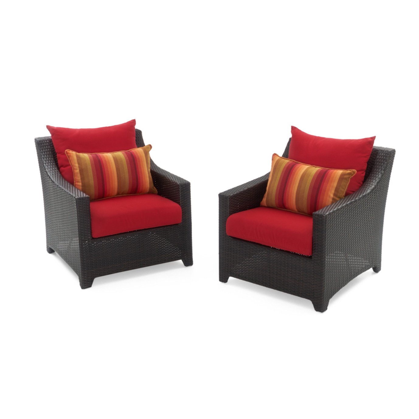 Deco™ Club Chairs - Sunset Red