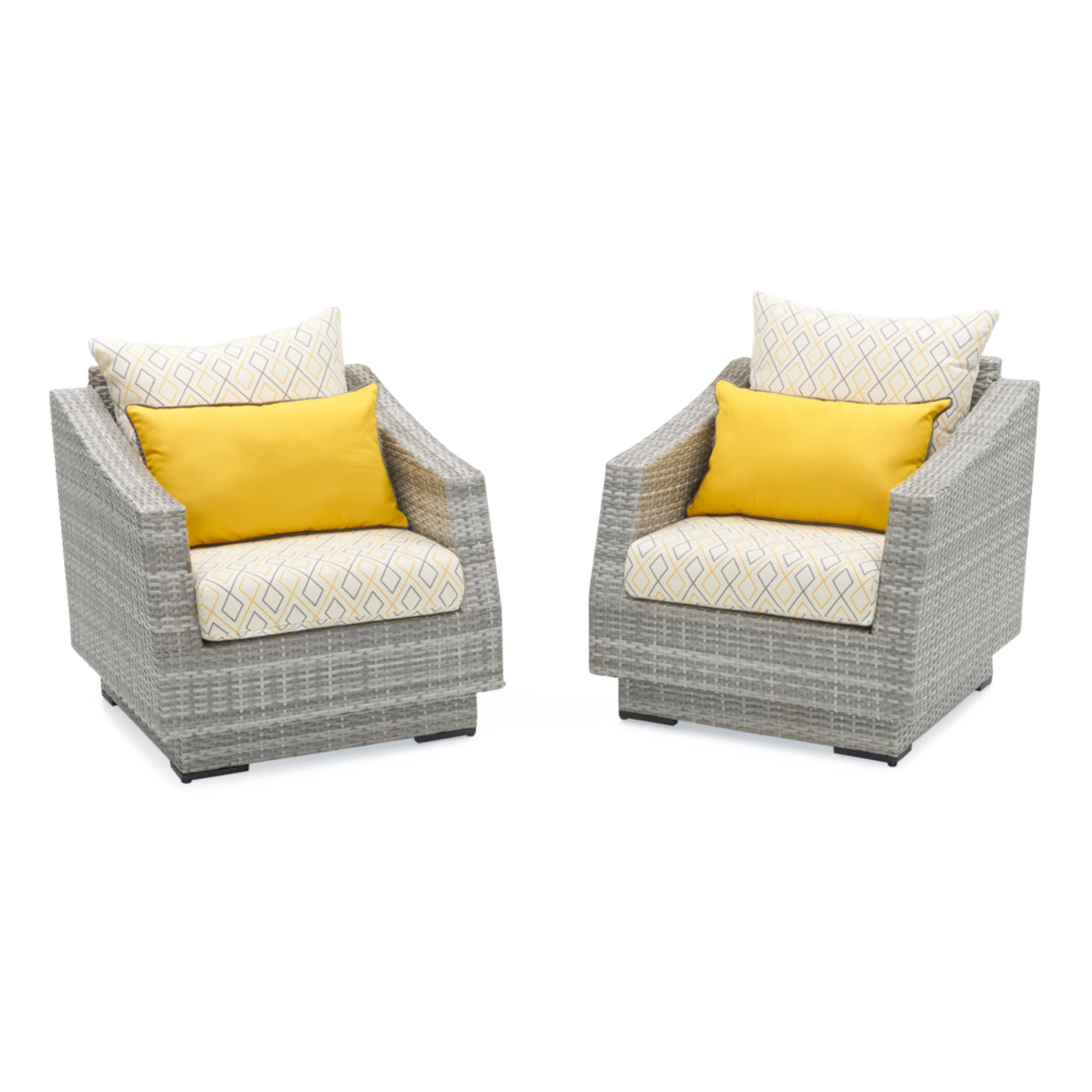 Cannes™ Deluxe Set of 2 Club Chairs - Sunflower Yellow