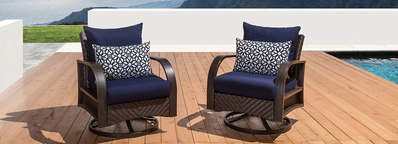 Barcelo™ Motion Club Chairs - Bliss Blue