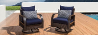 Barcelo™ Motion Club Chairs - Charcoal Gray