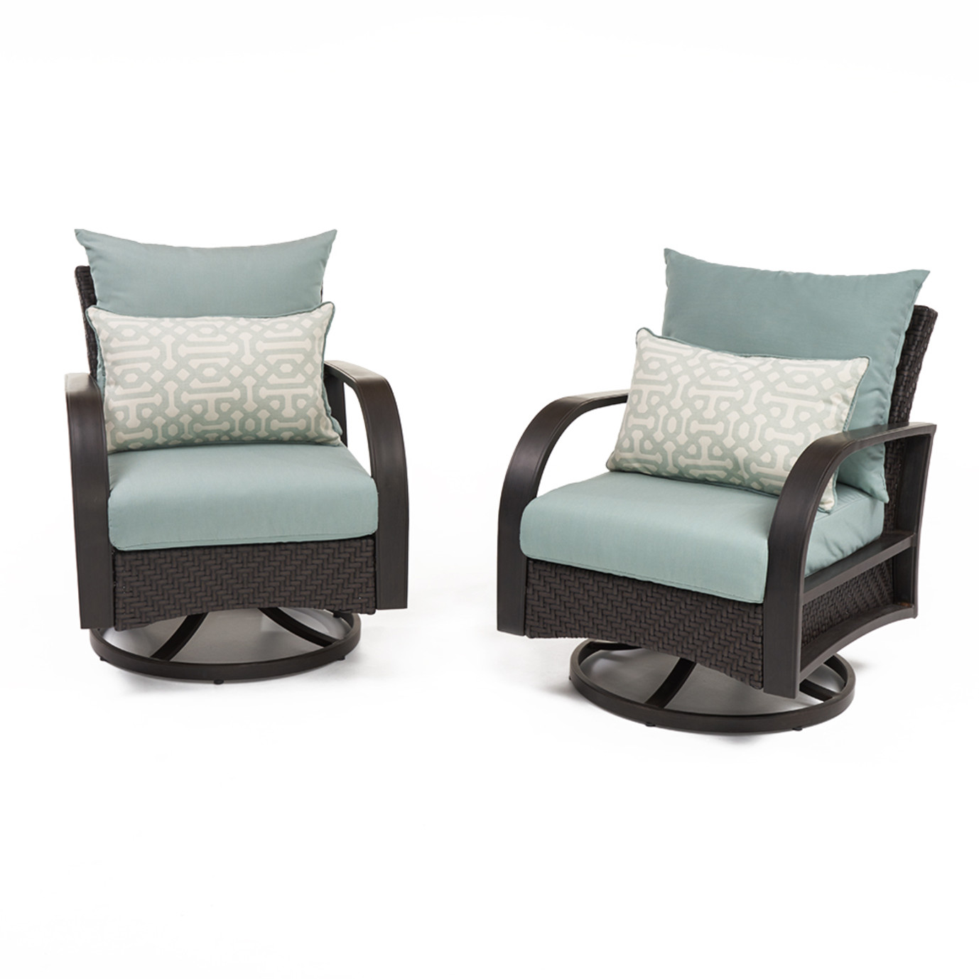 Barcelo™ Motion Club Chairs - Spa Blue