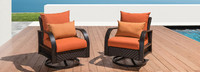 Barcelo™ Motion Club Chairs - Sunset Red