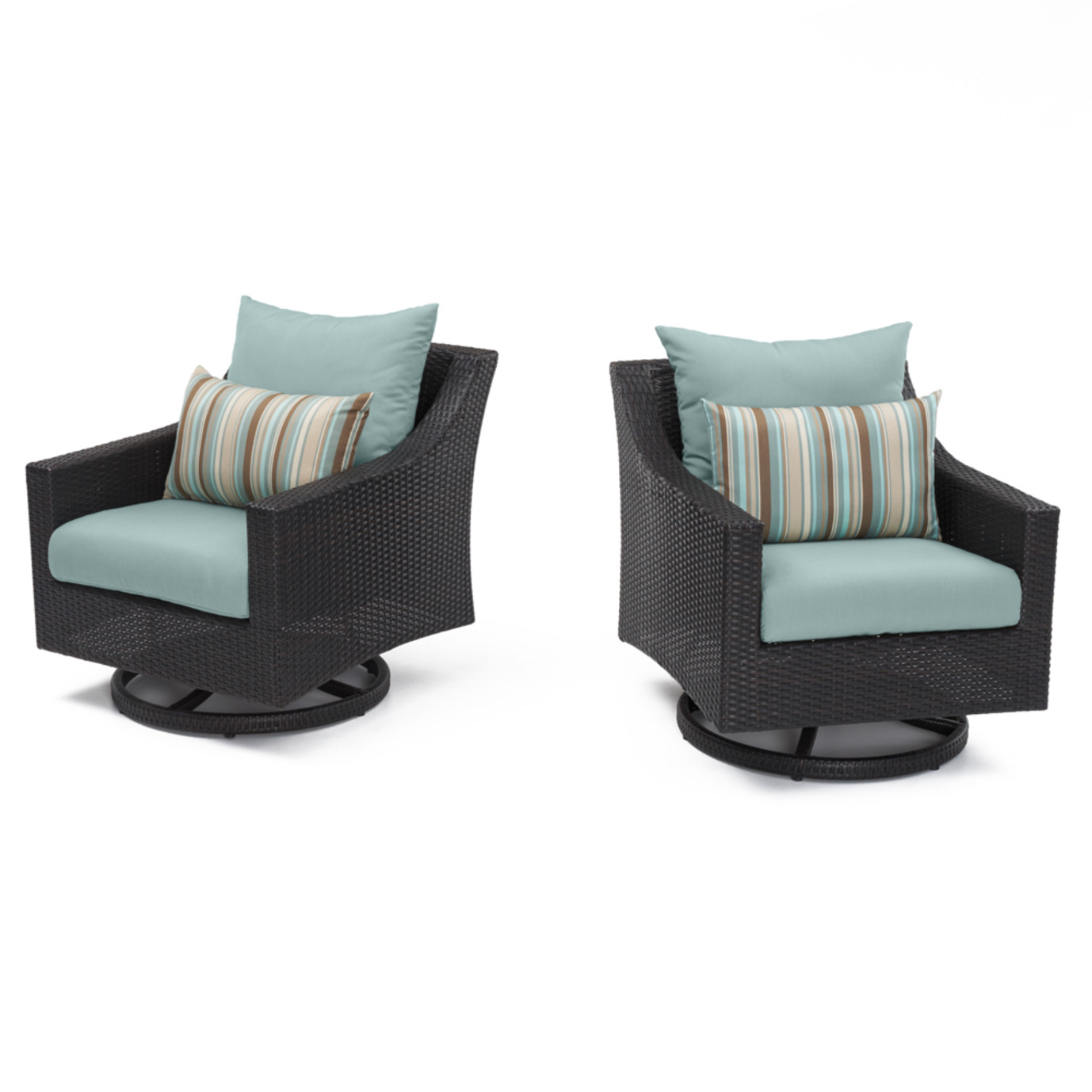 Deco™ Motion Club Chairs in Bliss Blue