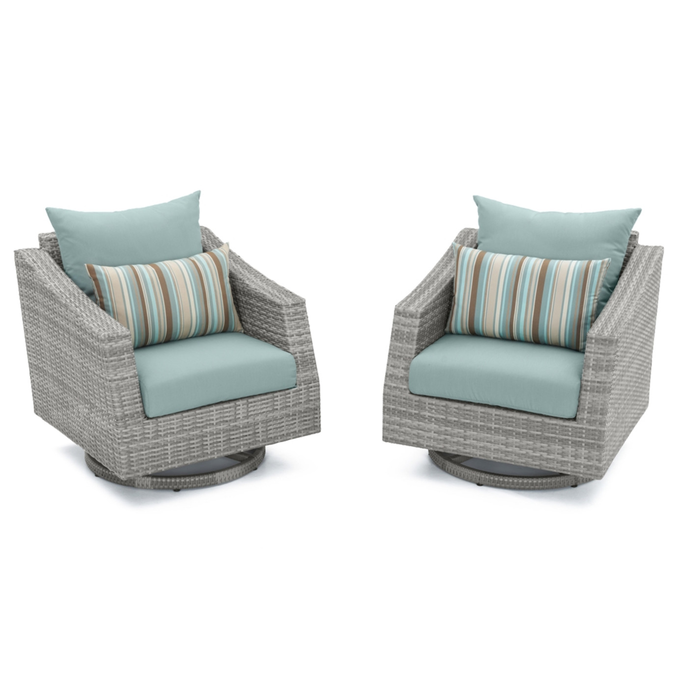 Cannes™ Motion Club Chairs in Bliss Blue