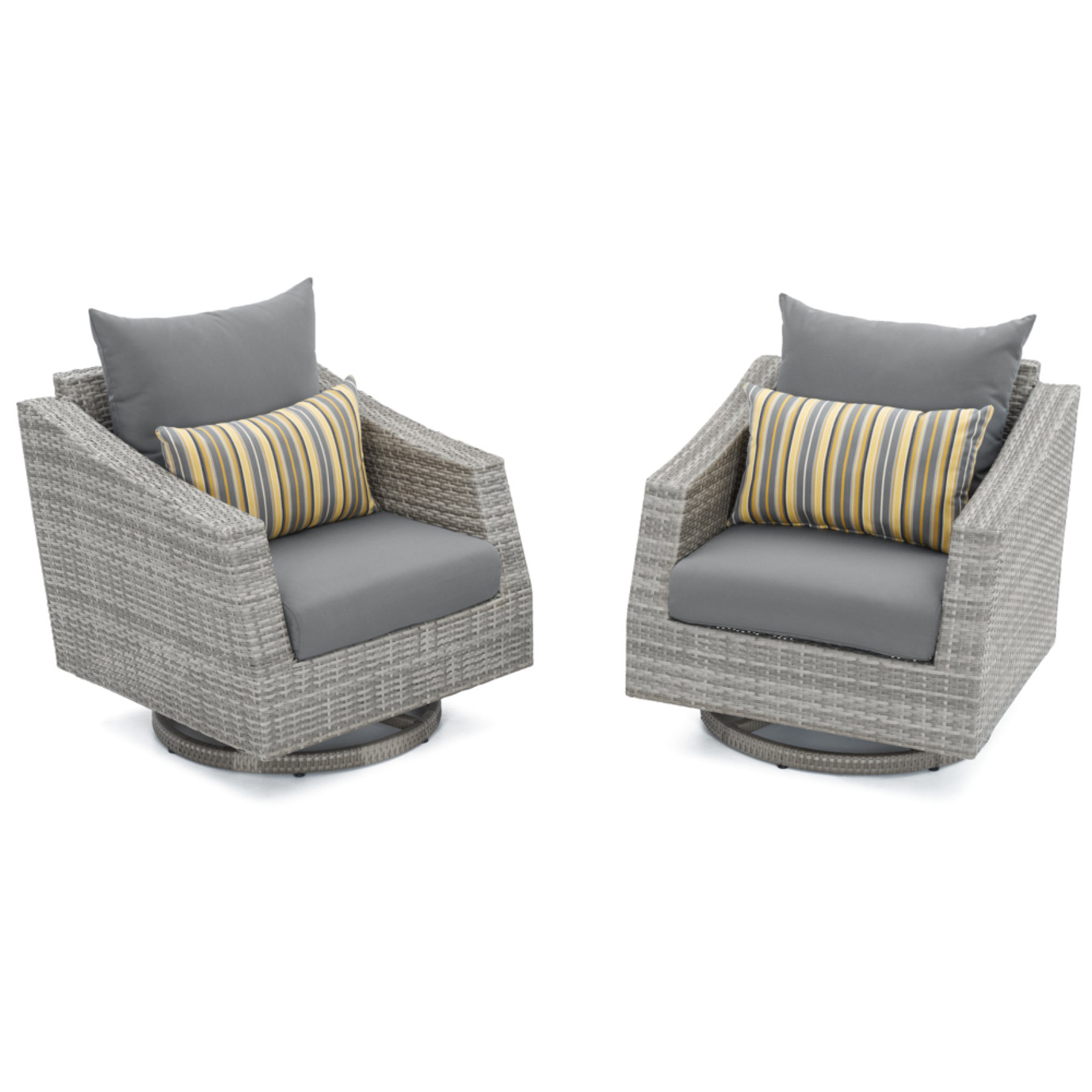 Cannes™ Motion Club Chairs - Charcoal Grey