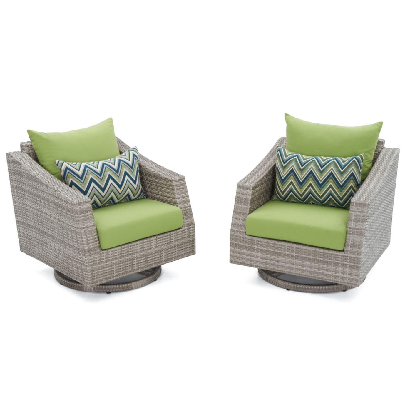 Cannes™ Motion Club Chairs - Ginkgo Green