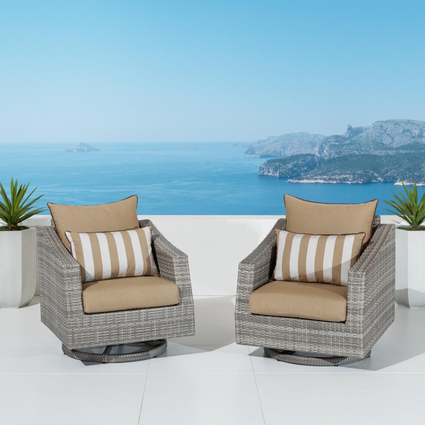Cannes™ Motion Club Chairs - Maxim Beige