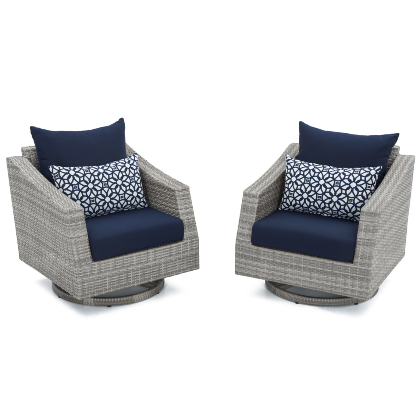 Cannes™ Motion Club Chairs - Navy Blue