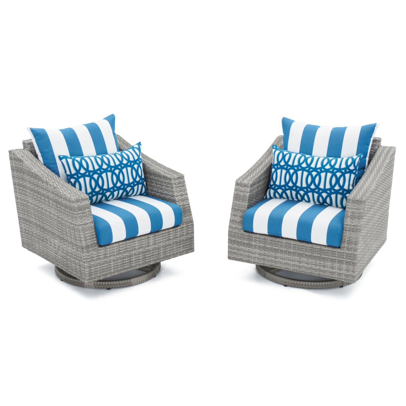 Cannes™ Motion Club Chairs - Regatta Blue