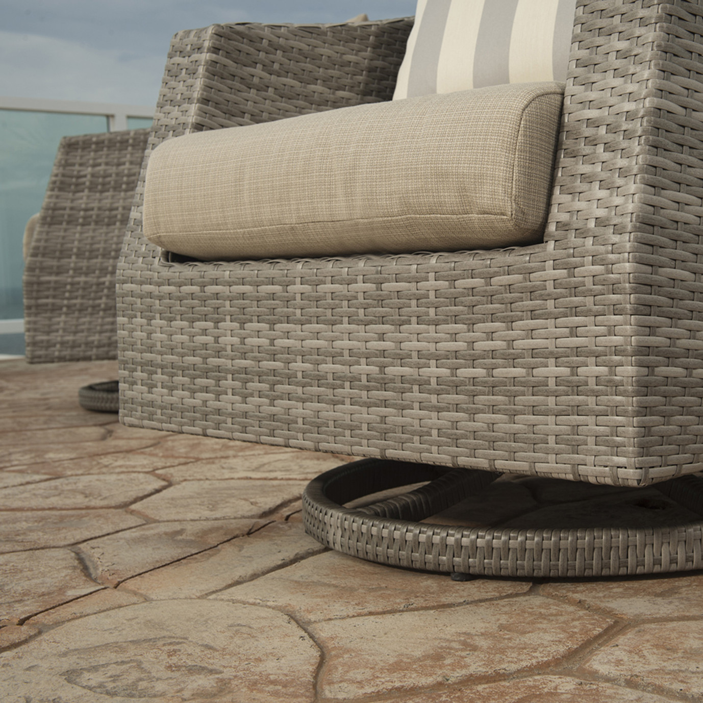 Cannes™ Motion Club Chairs in Slate Gray