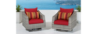 Cannes™ Motion Club Chairs - Sunset Red