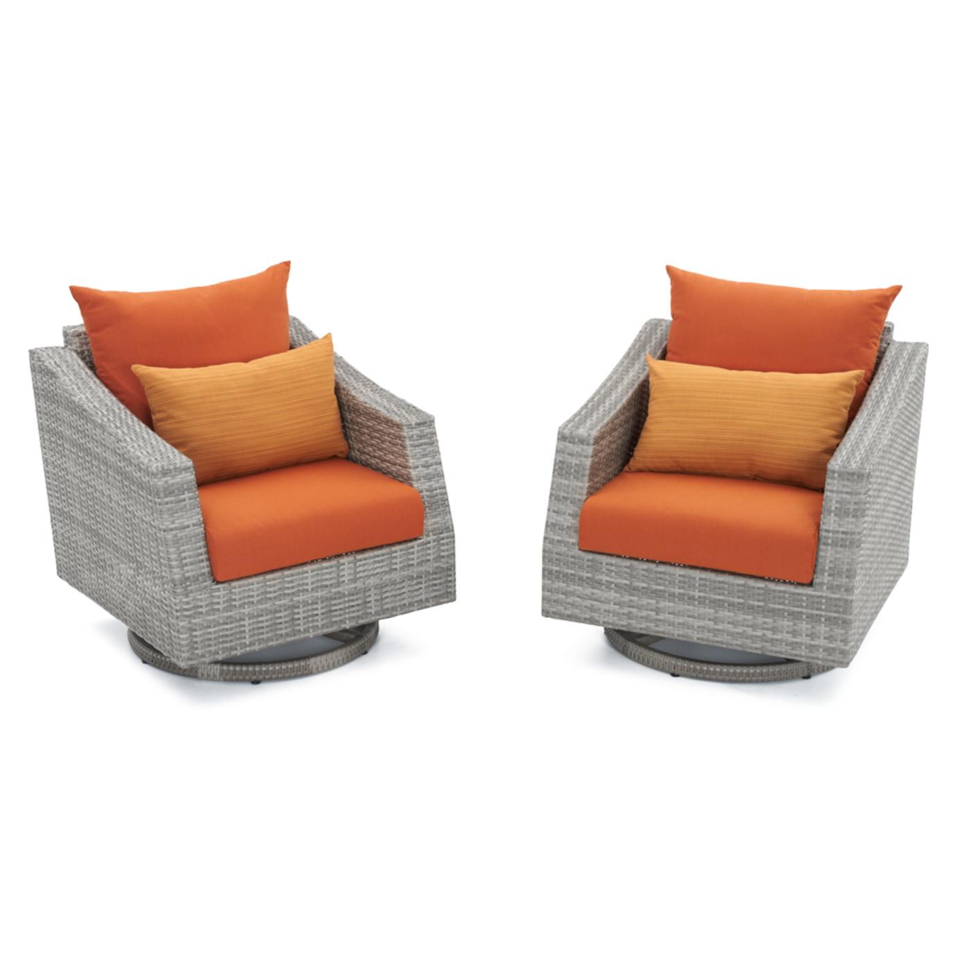 Cannes™ Motion Club Chairs - Tikka Orange