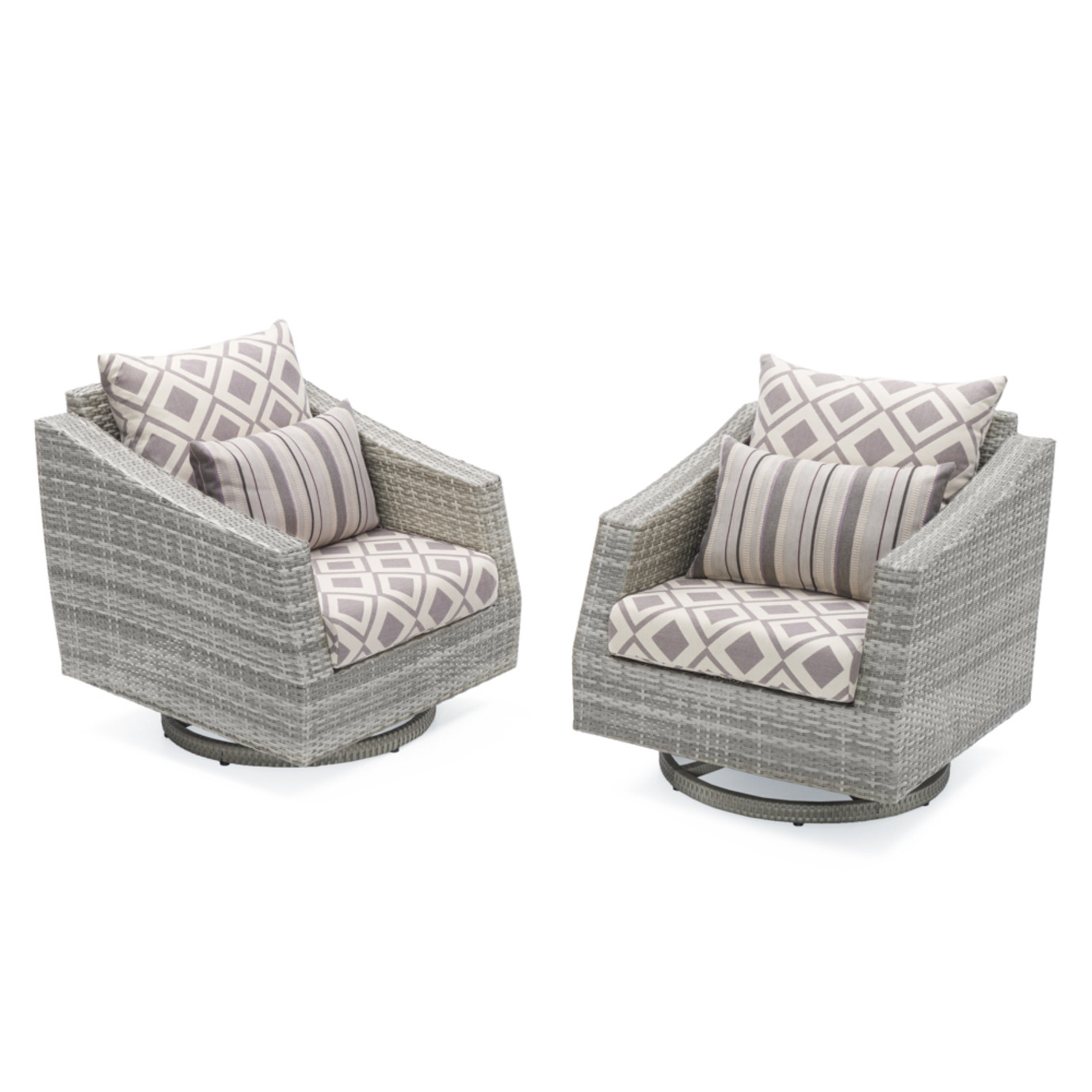 Cannes™ Motion Club Chairs - Wisteria Lavender