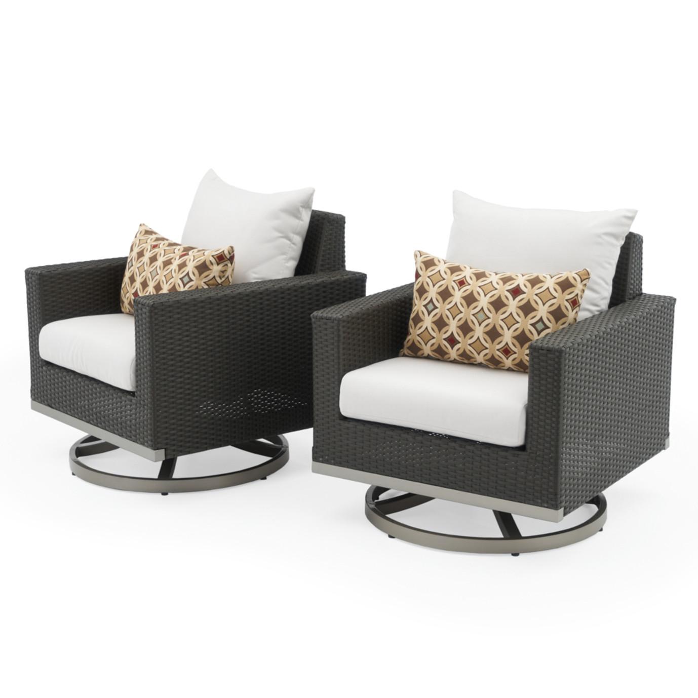 Milo™ Espresso Motion Club Chairs - Moroccan Cream