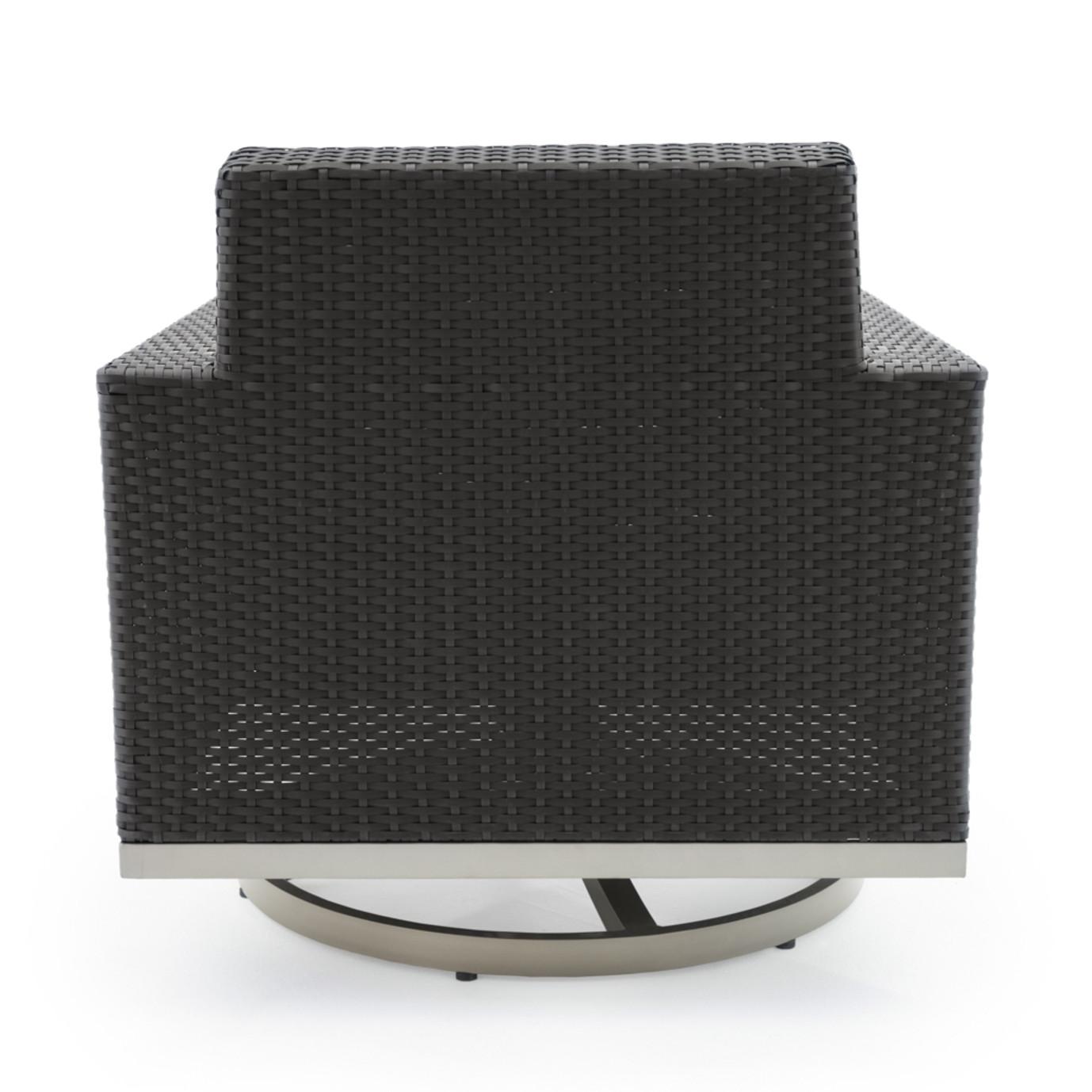 Milo™ Espresso Motion Club Chairs - Slate Gray