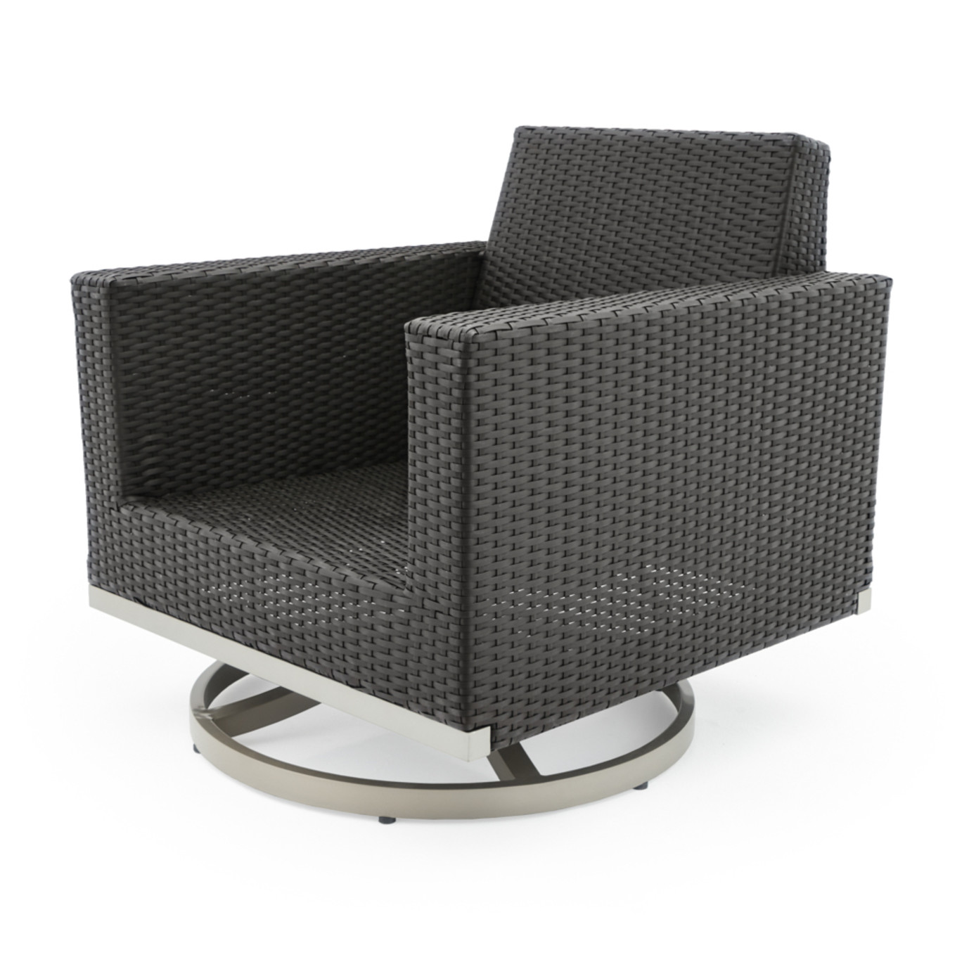 Milo™ Espresso Motion Club Chairs - Spa Blue