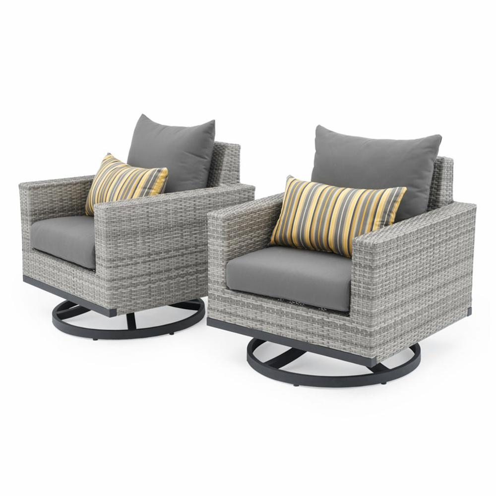 Milo™ Grey Motion Club Chairs - Charcoal Grey