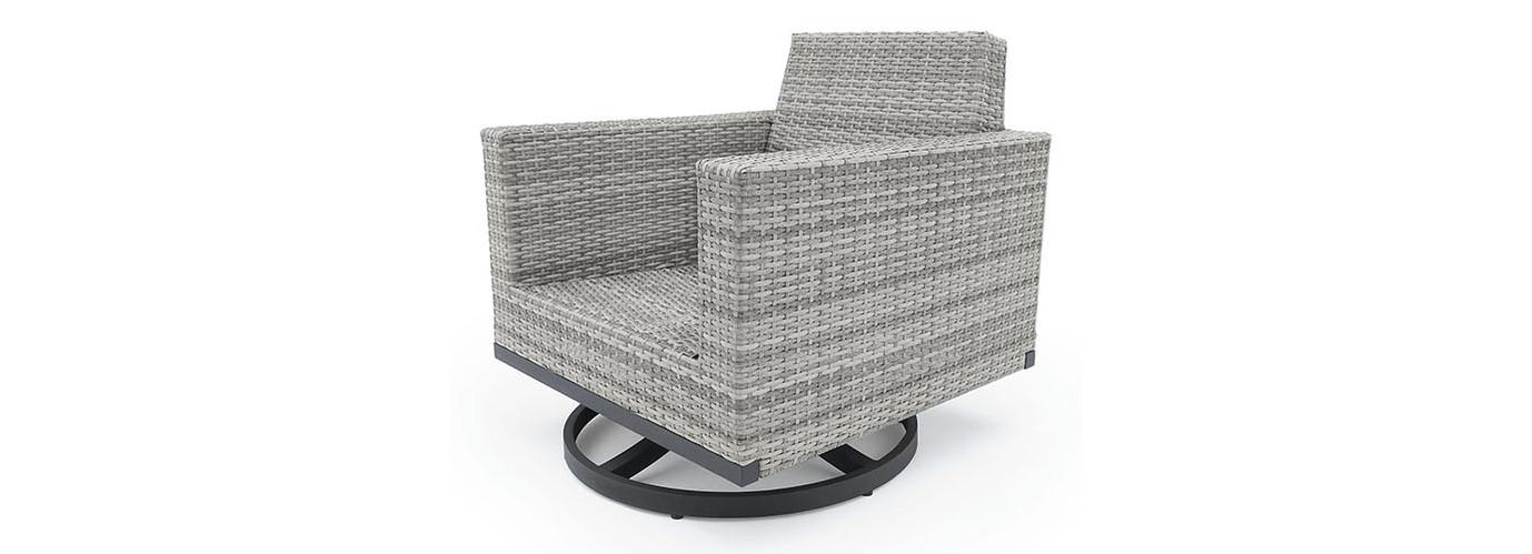 Milo™ Gray Motion Club Chairs - Moroccan Cream