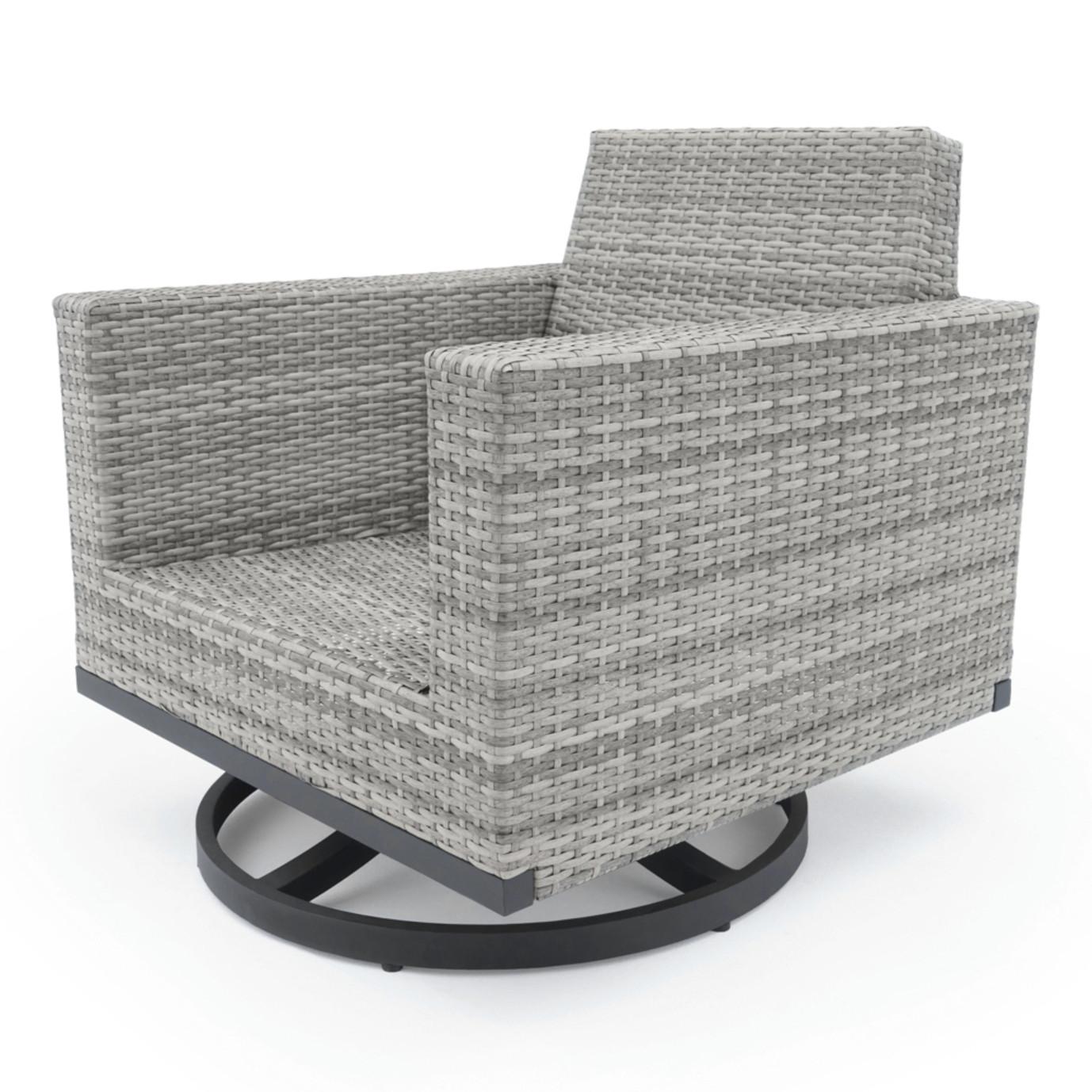 Milo™ Grey Motion Club Chairs - Navy Blue