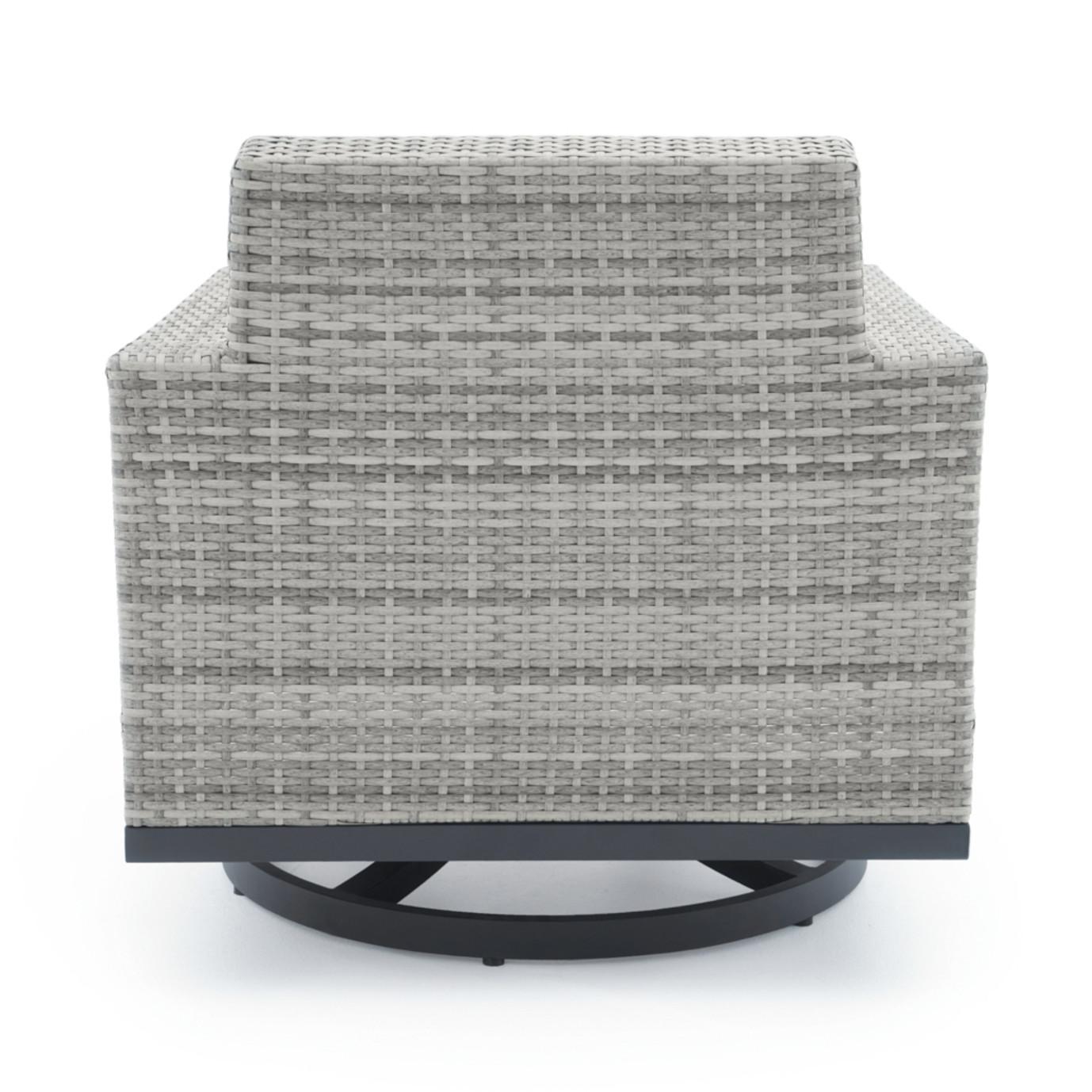 Milo™ Gray Motion Club Chairs - Navy Blue