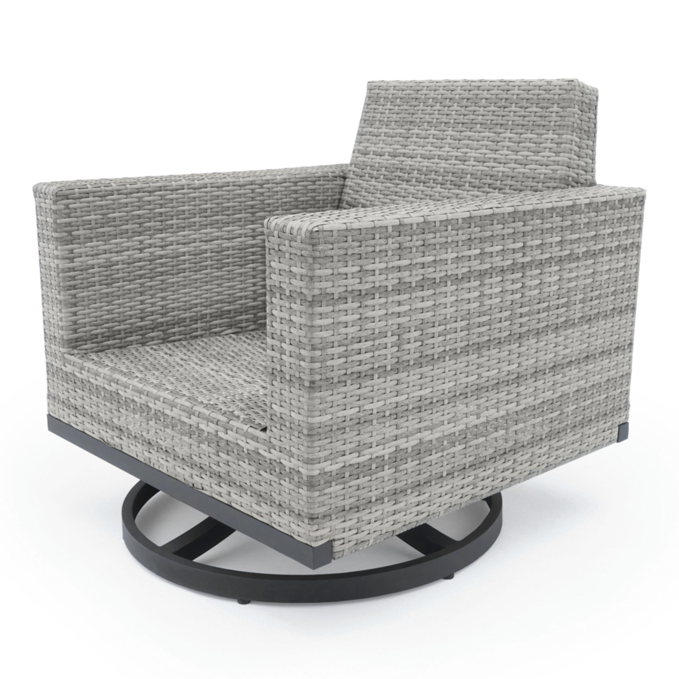 Milo™ Gray Motion Club Chairs - Spa Blue