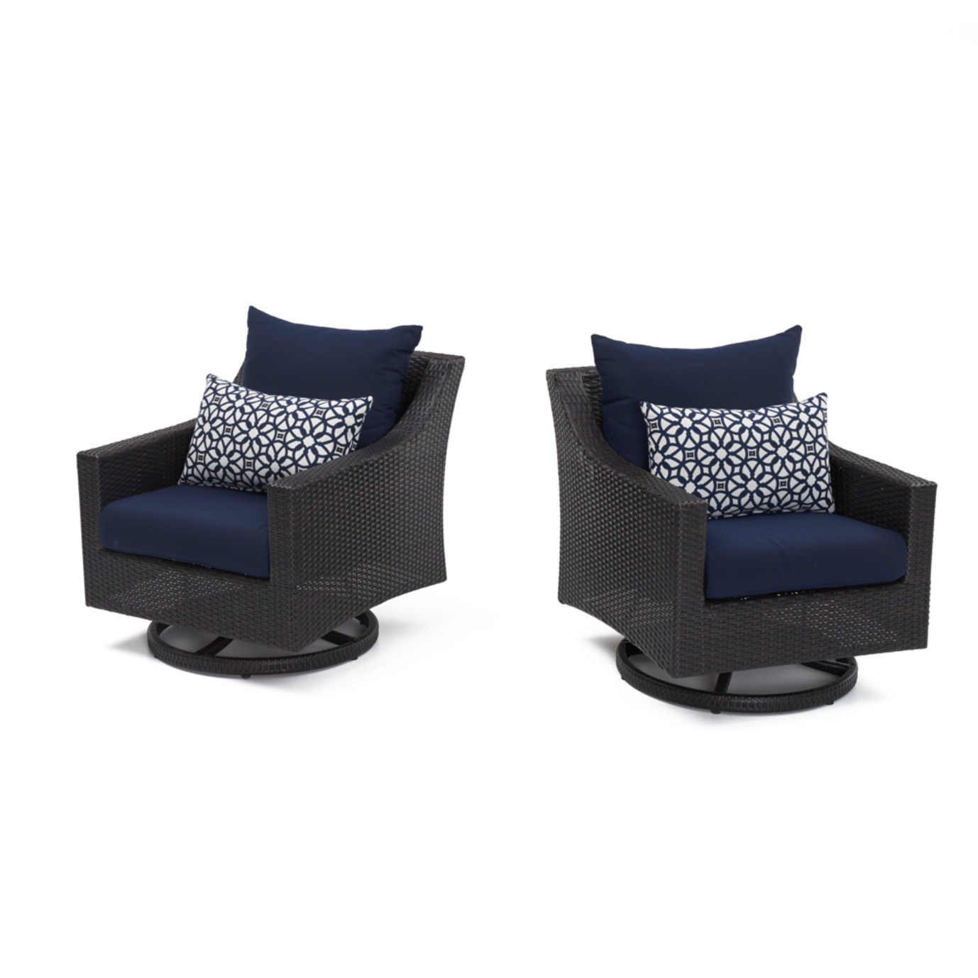Deco Motion Club Chairs Navy Blue Rst Brands