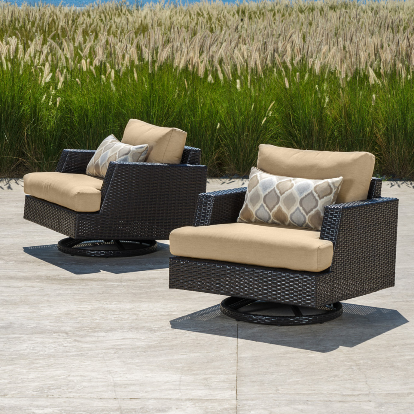 Portofino® Comfort Motion Club Chairs - Heather Beige