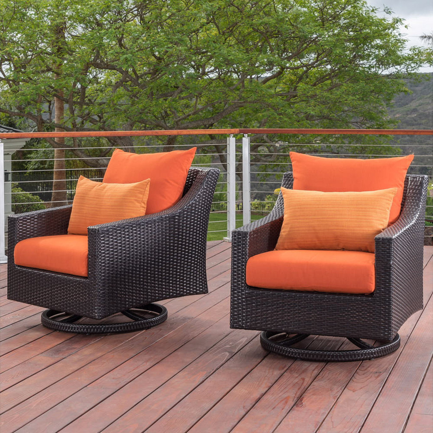 Deco™ Motion Club Chairs in Slate Gray