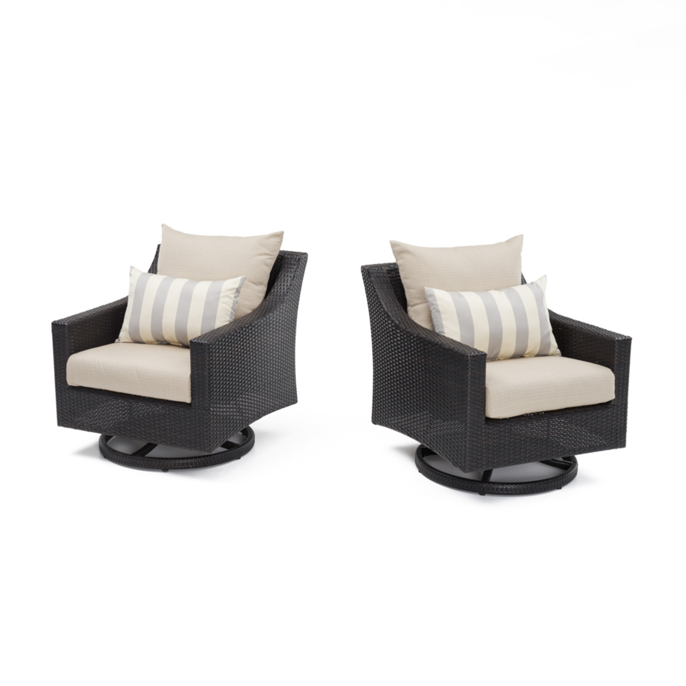 Deco™ Motion Club Chairs in Slate Grey