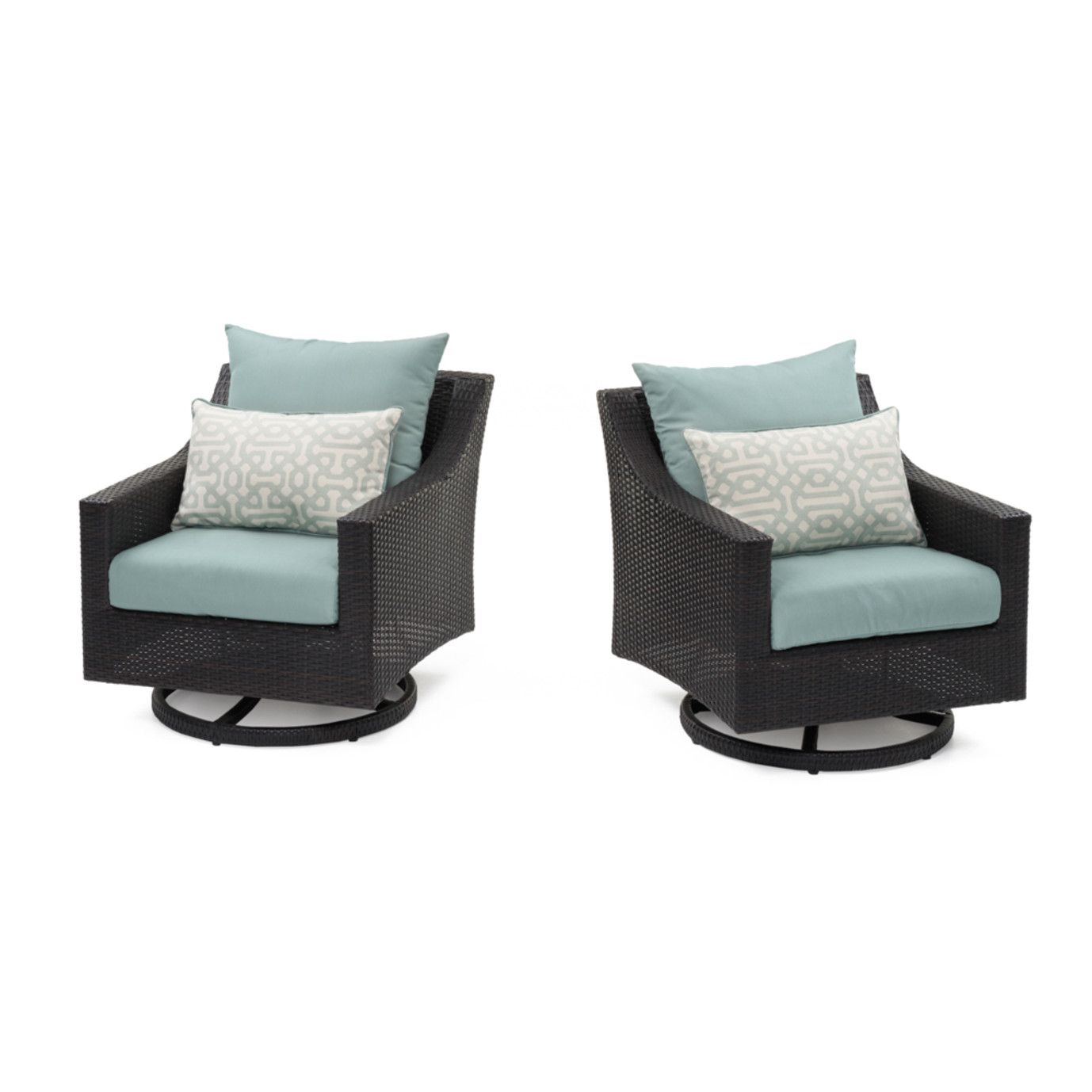Deco™ Motion Club Chairs - Spa Blue