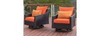 Deco™ Motion Club Chairs - Sunset Red